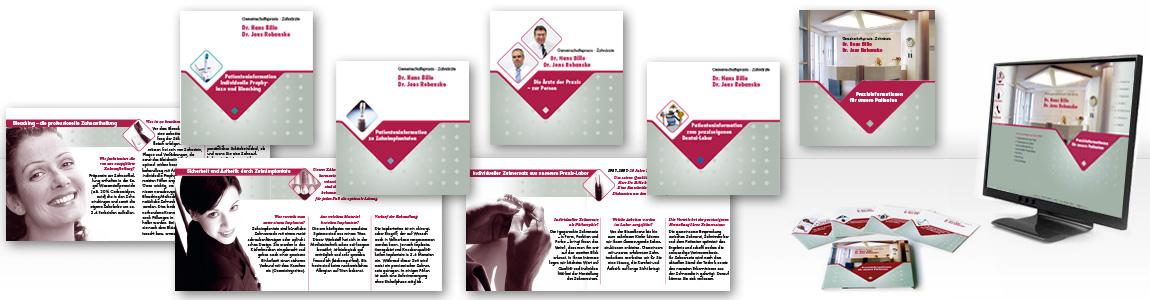 Für die Arzt & ZahnarztPraxis : Flyer und Broschüren, Werbung sowie ...